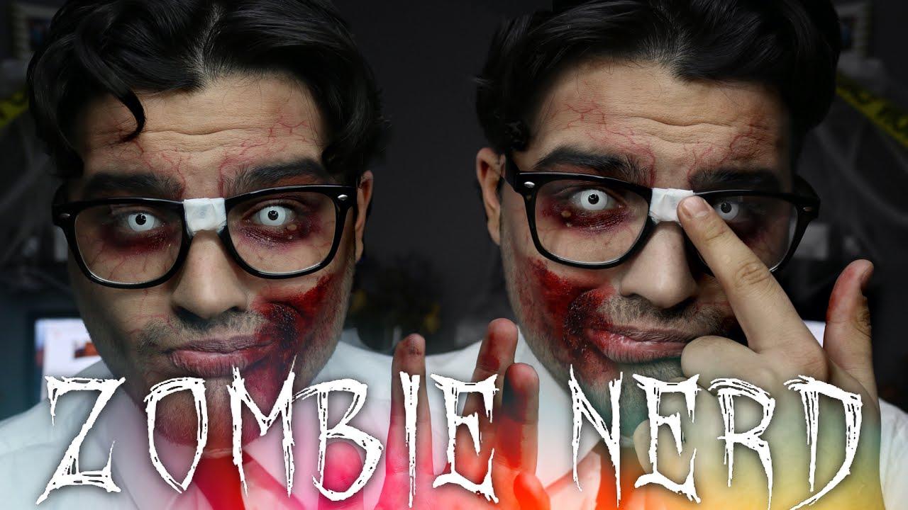 Zombie Nerd Halloween Makeup Tutorial | 31 Days of Halloween - YouTube