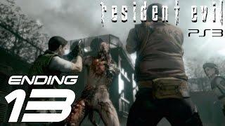 Resident Evil HD Remaster (PS3) - Jill Walkthrough Part 13 - Tyrant Final Boss & Ending