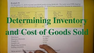 Inventories - Basics of Determining Inventory and Cost of Goods sold