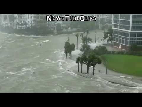 Florida Hurricane Irma DEVASTATES Miami,Tampa Bay,Naples with POWERFUL storm surges