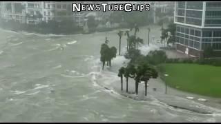 Скачать Florida Hurricane Irma DEVASTATES Miami Tampa Bay Naples With POWERFUL Storm Surges