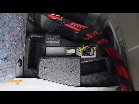 BMW E87 Park Distance Control Module Location PDC