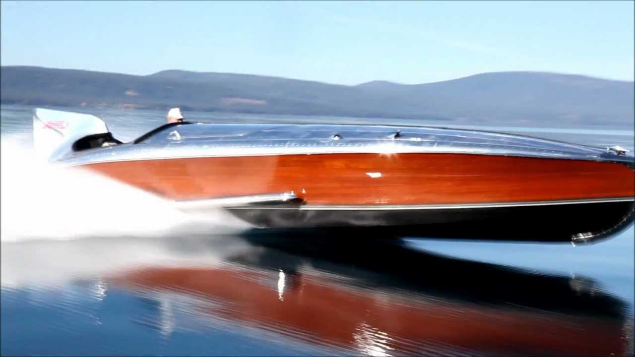 1930/39 Gar Wood race boat on Lake Tahoe, V-12 Rolls Royce - YouTube