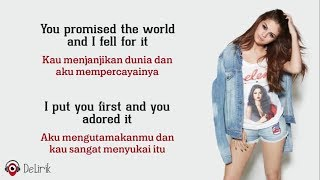 Lose You To Love Me - Selena Gomez (Lyrics video dan terjemahan)