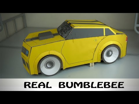 V2.0 DIY Amazing Kids Bumblebee Transformer Costume out of Cardboard