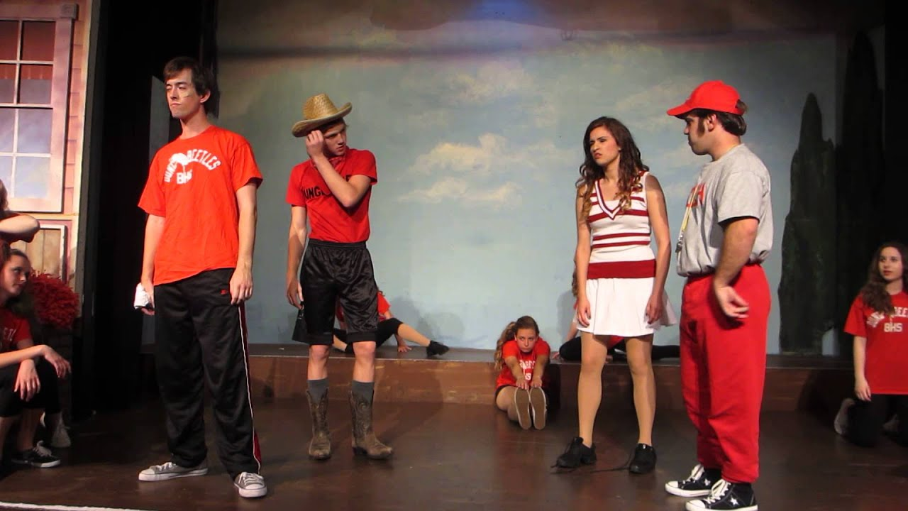 Footloose at musical theatre village 2014 gym scene youtube