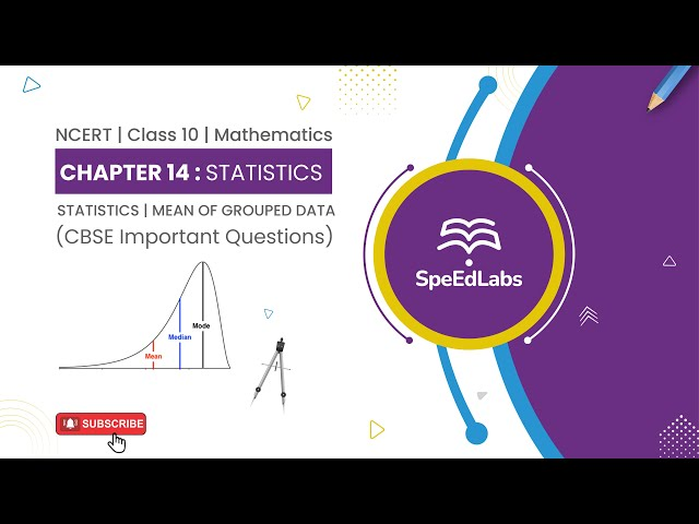 NCERT Class10 Mathematics Chapter 14 : Statistics|Mean of Grouped Data| CBSE Important Questions