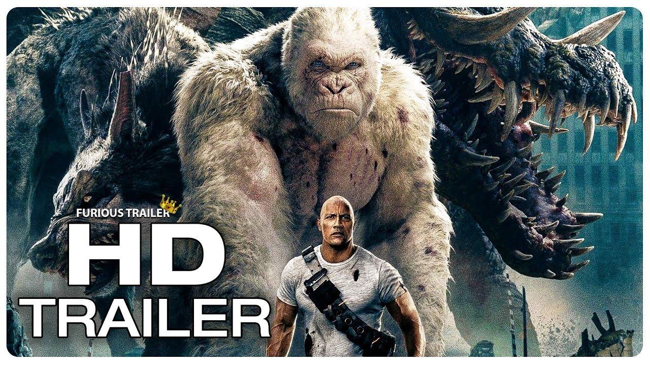 RAMPAGE Movie Clip George vs Giant Crocodile (2018) Dwayne Johnson Monster Movie Trailer HD