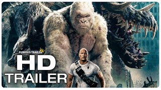 RAMPAGE Movie Clip George vs Giant Crocodile (2018) Dwayne Johnson Monster Movie Trailer HD