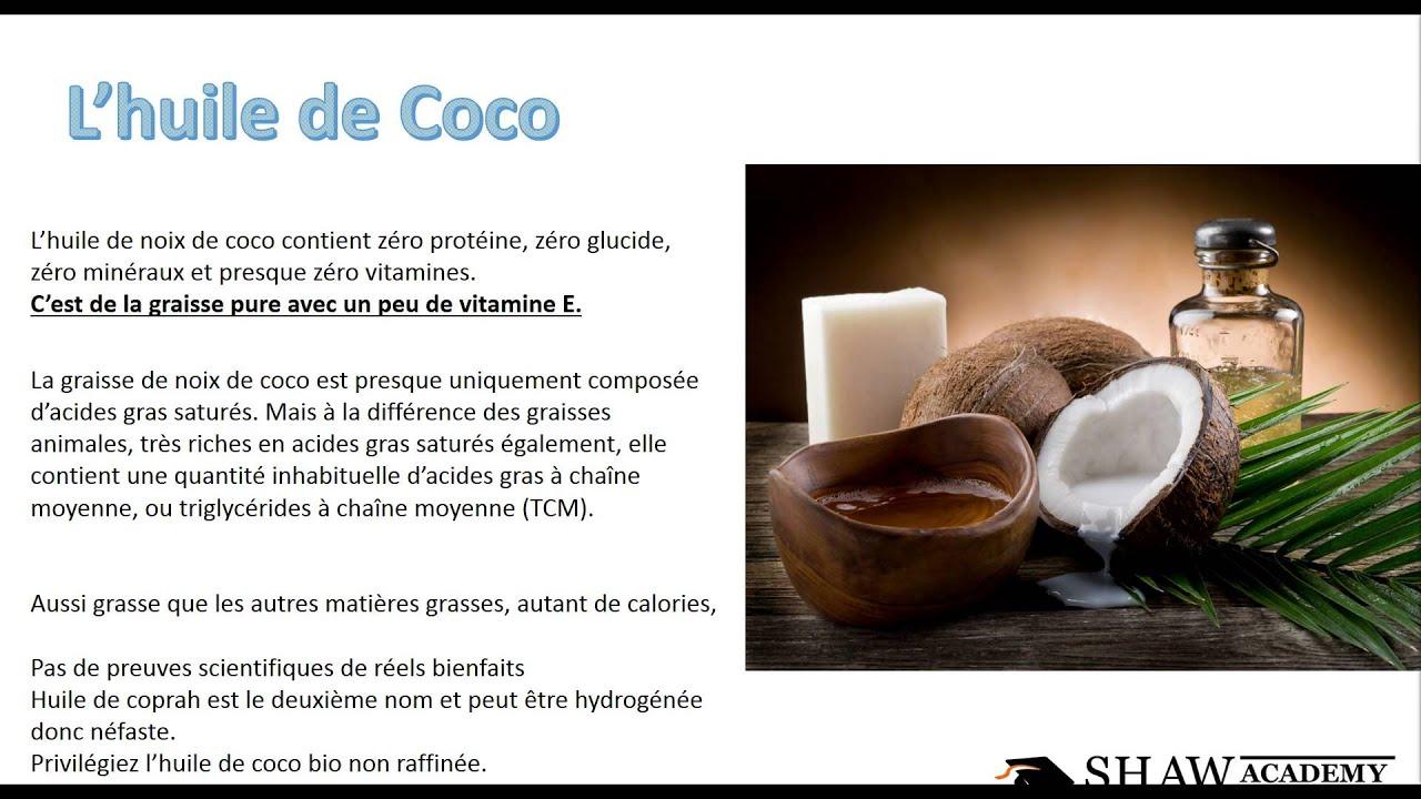 huile de noix de coco bienfaits