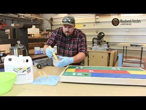 Secrets to a clear epoxy resin pour by Woodworkfinishes.com with Ecopoxy UVPoxy