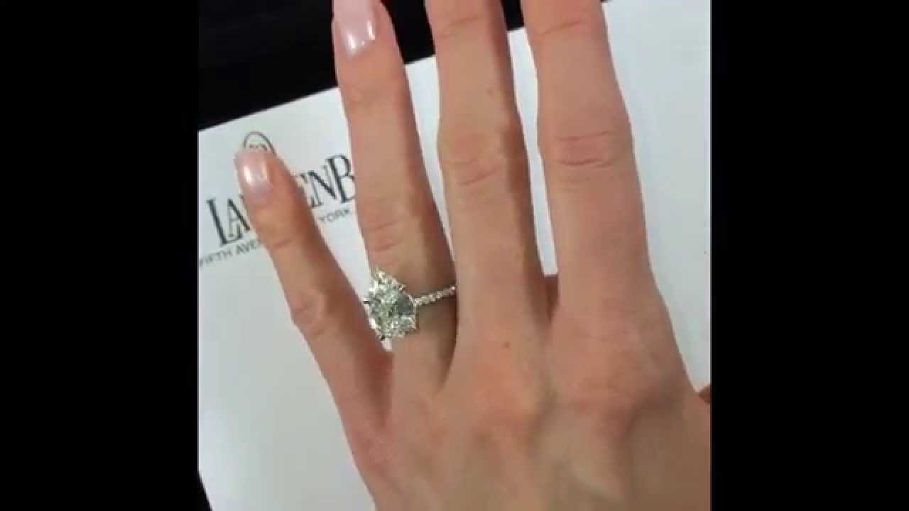 386 Carat Pear Diamond Engagement Ring YouTube