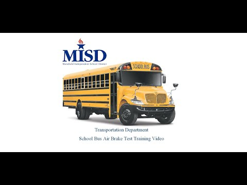 Module 3 School Bus Air Brake Test Training