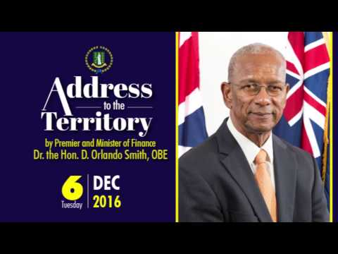 Address to the Territory - Tuesday, 6th December, 2016