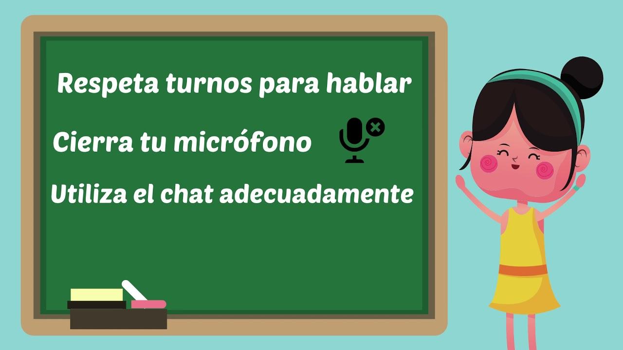 Normas para las clases en línea.