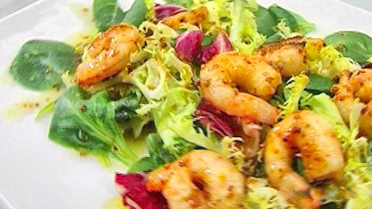 Салат из жареных креветки рецепты с фото
