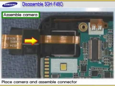 Samsung SGH-F480 Disassembly & Assembly