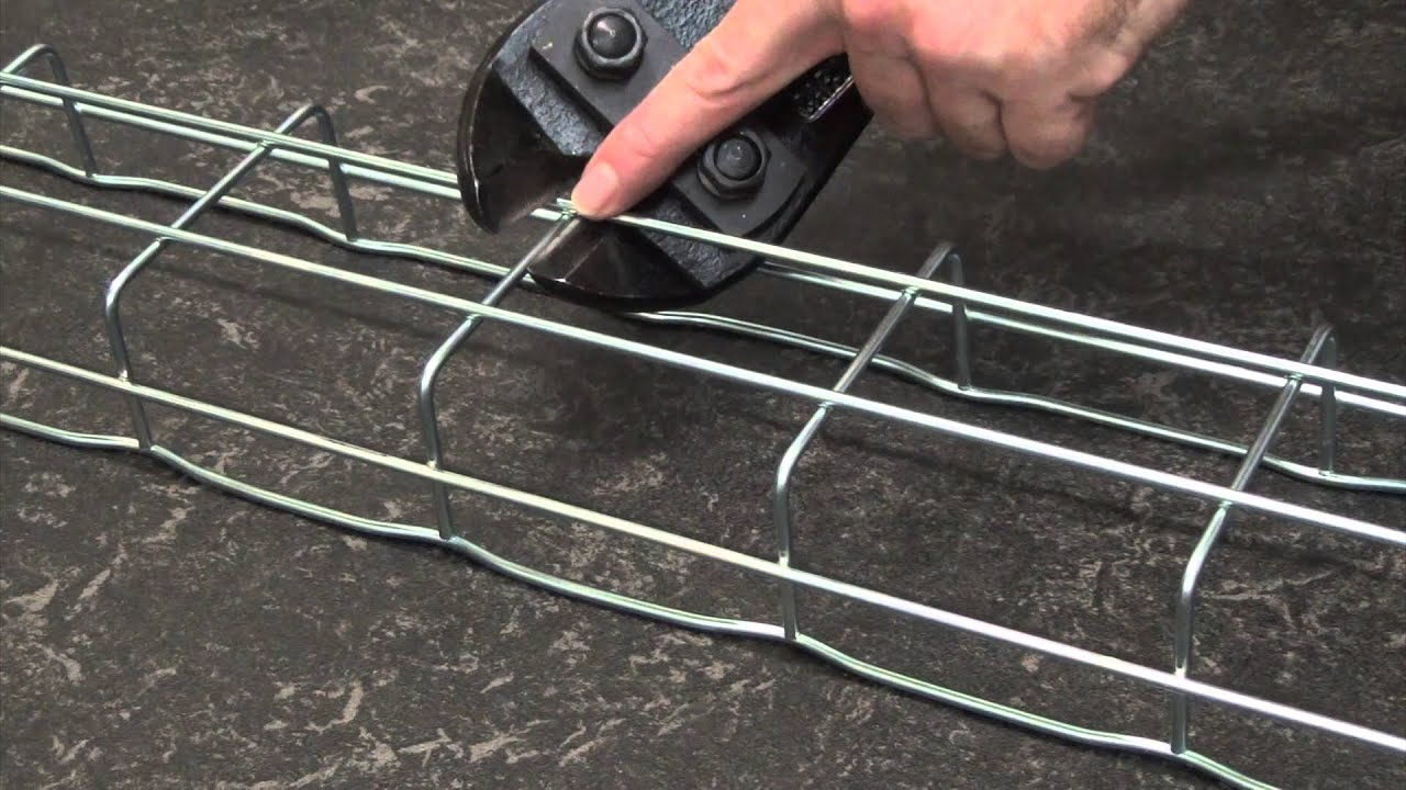 How to cut Cablofil steel wire cable tray - YouTube