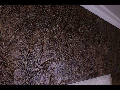 декоративная штукатурка из бумаги своими руками. Декоративная штукатурка мятая бумага. отделка ниши