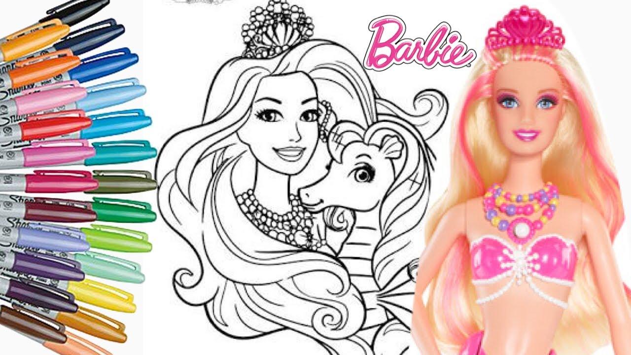 Mewarnai Barbie Cantik Mewarnai Anak Anak