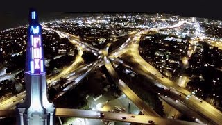 Drone Night Flights Over Los Angeles DJI Phantom DSLR Pros GoPro Hero3 FPV UAV