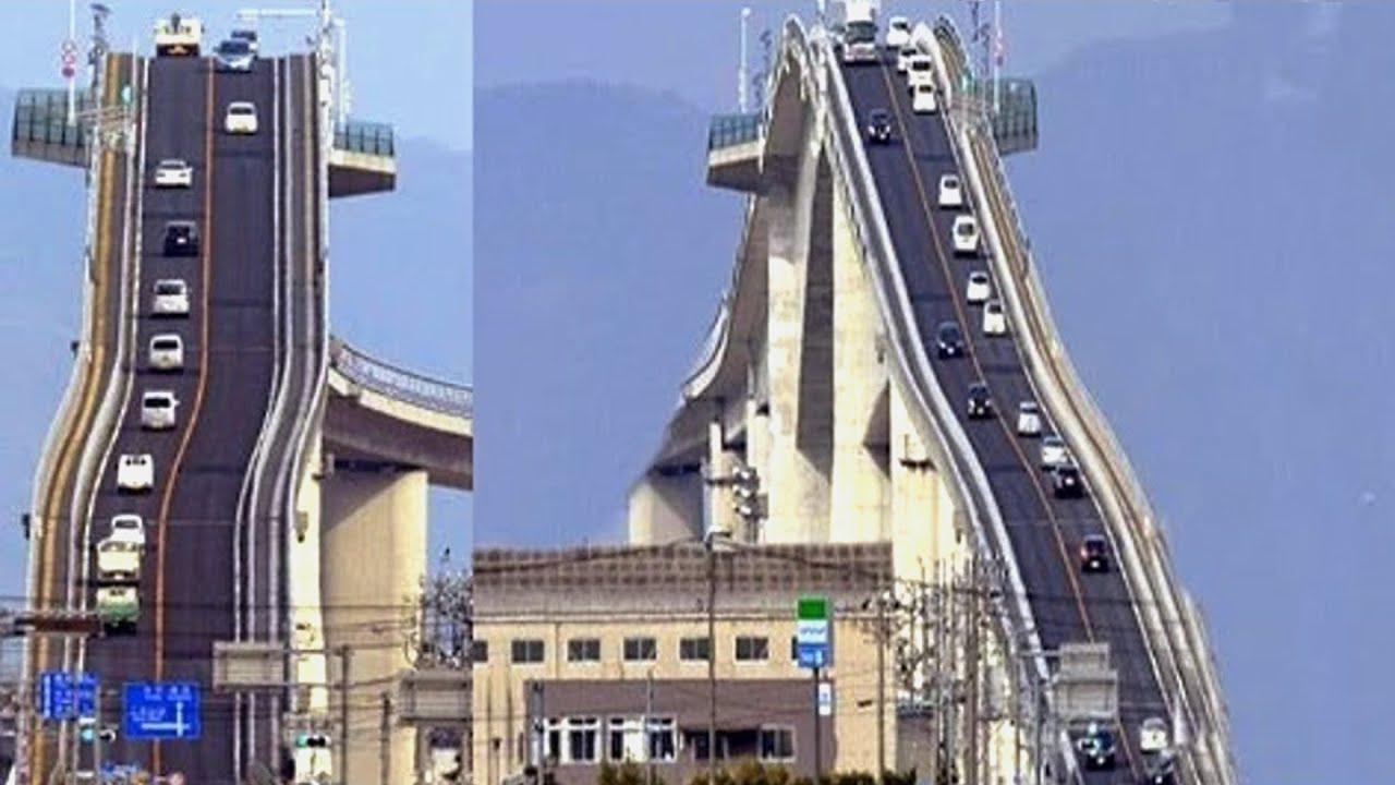 """أكثر جسر مخيف فالعالم - جسر """"أوهاشي"""" في اليابان"""
