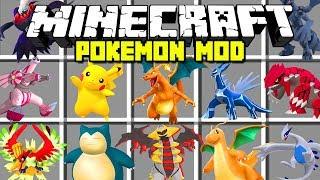 Minecraft POKEMON MOD! |  CATCH PIKACHU, MEWTWO, ARCEUS, MEW AND MORE! | Modded Mini-Game