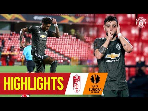 Highlights   Rashford & Fernandes give United 1st leg advantage   Granada CF 0-2 Manchester United