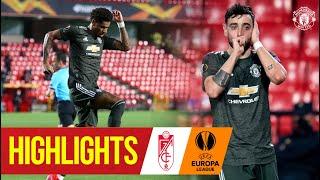Highlights | Rashford & Fernandes give United 1st leg advantage | Granada CF 0-2 Manchester United