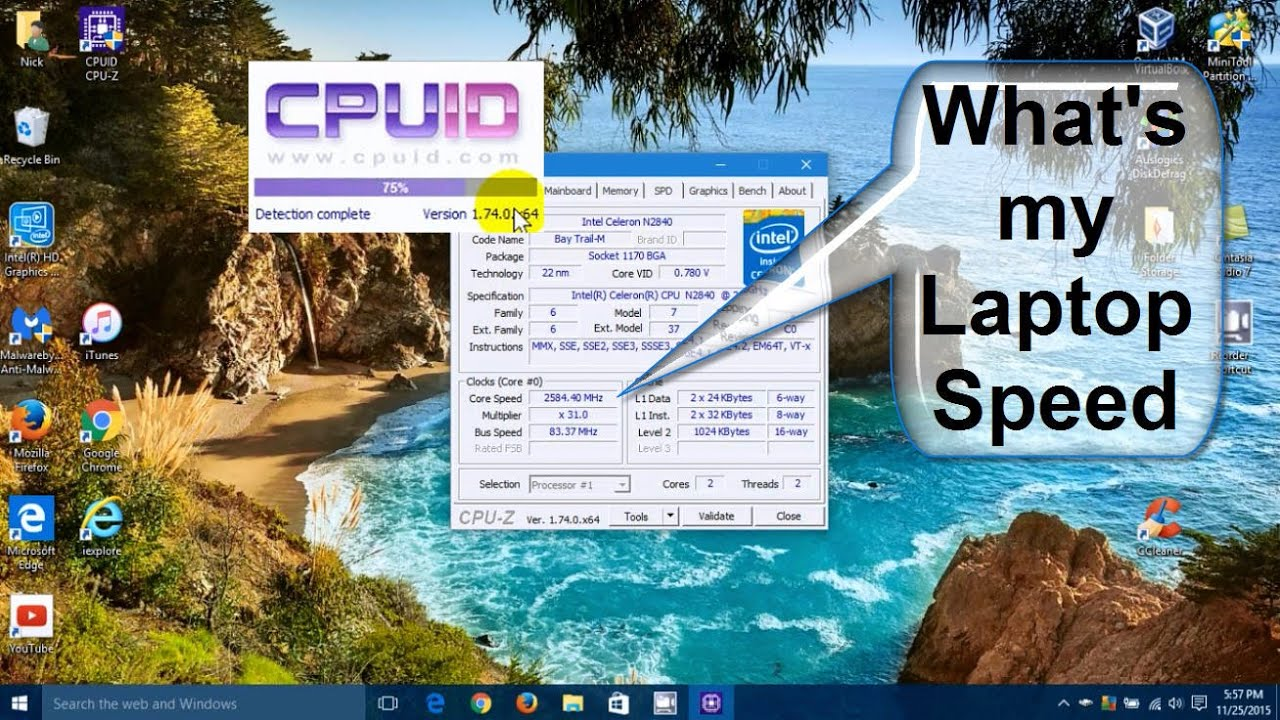 CPU Z Tutorial Windows 10: How to install CPU z - Laptop ...