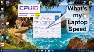 Gambar cover CPU Z Tutorial Windows 10: How to install CPU z - Laptop Speed Specs w/CPUID - Free & Easy Download