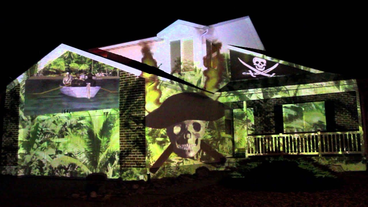 2013 pirate halloween house projection live hd - Halloween House Pictures