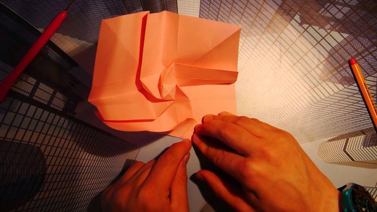 Origami Tsuru Rose Tutorial Lets Make It Diagram1 Kawasaki Crane By Satoshi Kamiya Full