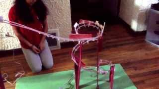 The gum ball roller coaster! (Made by: Veronica Salgado and Lesley Arroyo) Class of 2013