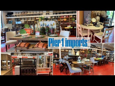Pier 1 Imports Dining Room Furniture Home Decor | Clearance Furniture | Shop With Me 2019