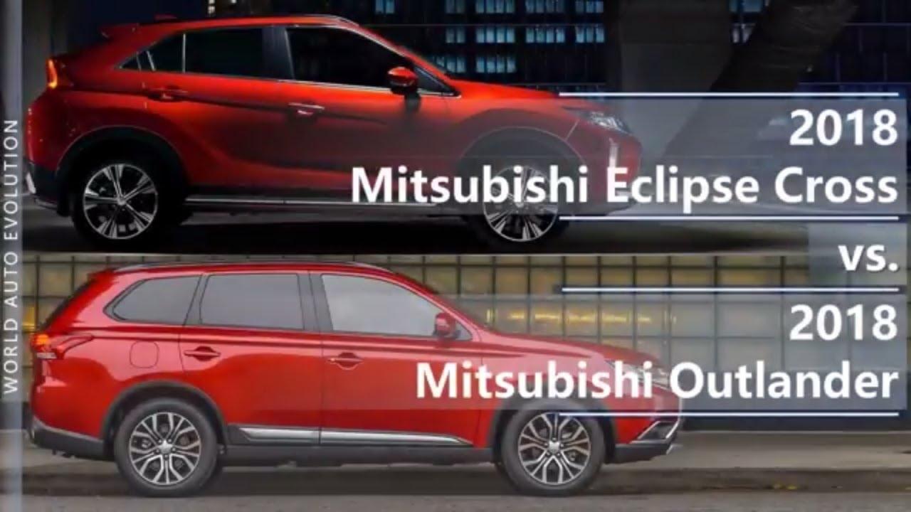 2018 Mitsubishi Eclipse Cross vs 2018 Mitsubishi Outlander ...