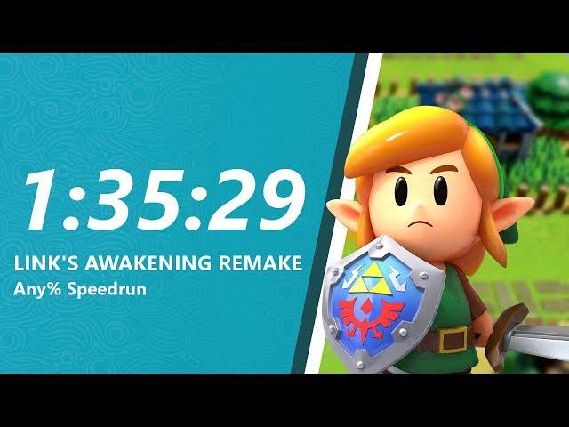 Link's Awakening Remake Any% Speedrun in 1:35:29
