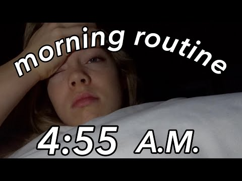 my REAL school morning routine *4:55 AM*