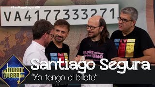 Santiago Segura 'consigue' el billete que Pablo Motos busca - El Hormiguero 3.0