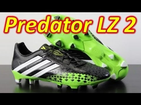 new concept ebe2f 0cc1a Adidas Predator LZ 2 Black White Ray Green - Unboxing + On Feet