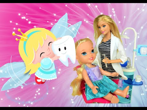 Annia and Elsia Toddlers - Elsya and Annya see Real Tooth Fairy Barbie Playset Toys and Dolls Anna