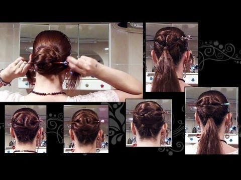 5 Ways to do a Chinese bun - long hair updo with hair stick