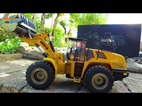 RC Loader Excavator | Huina 583 | Engineering Construction Vehicle | Unboxing | Cars Trucks 4 Fun
