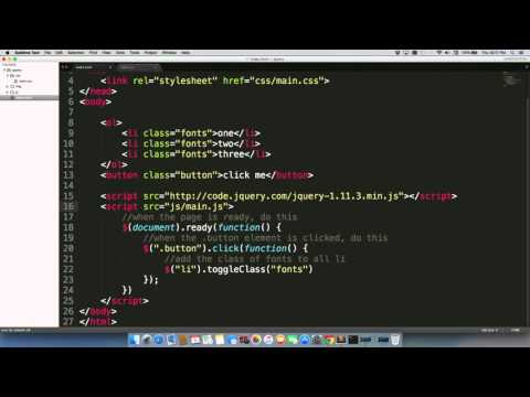 Linking your index.html page to a JavaScript file.