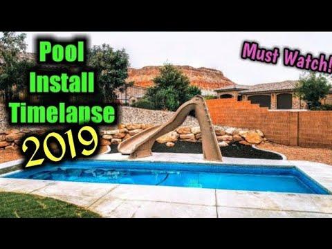 Best Timelapse - Swimming Pool Time Lapse - Fiberglass Pool Install - Best Timelapse