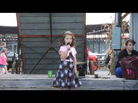 5 year old singing Mamas Broken Heart
