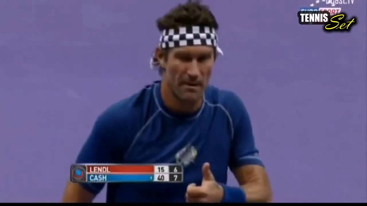Pat Cash vs Ivan Lendl Highlights HD World Tennis Day London 2015