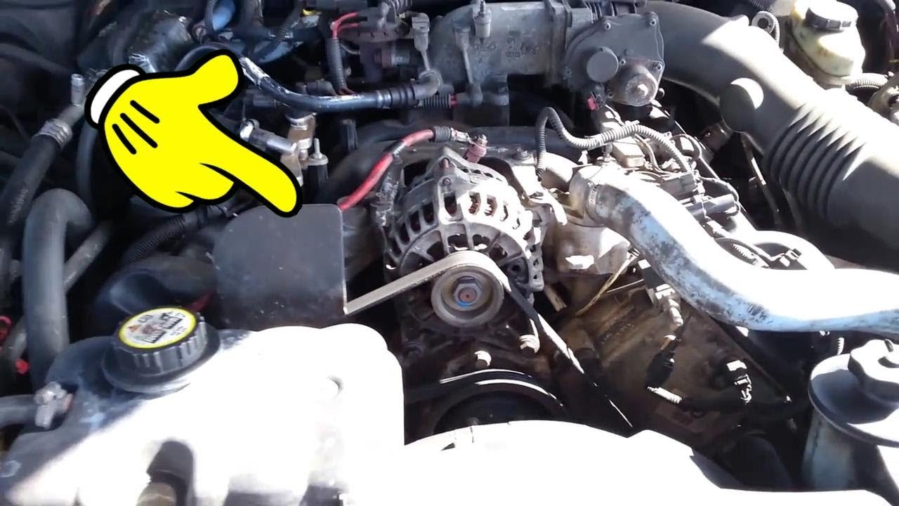 Location of parts under hood Ford Crown Victoria 2007