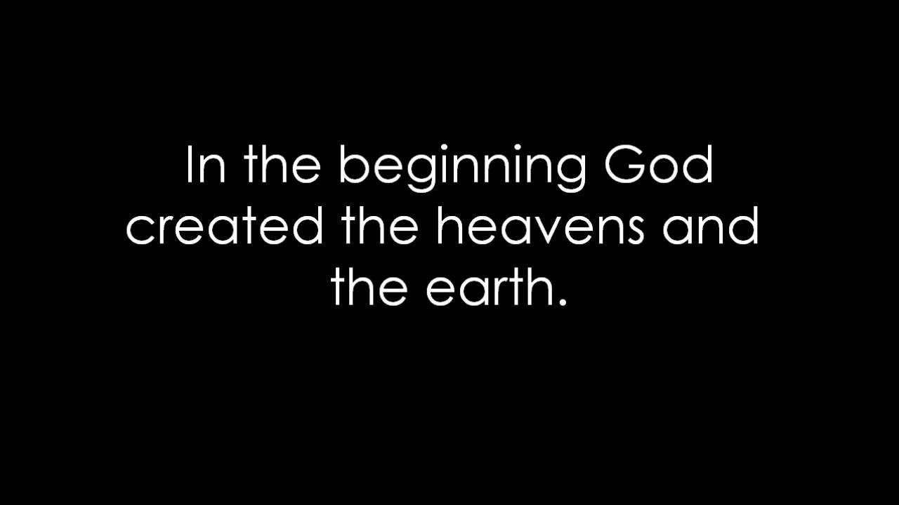 Genesis 1:1 (Prelude) Bible Memory Verse Song - YouTube