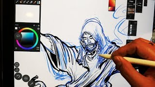 and thats how i saved the world Jesus Ascension DC Marvel - Sketching and Inking Process Video